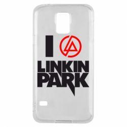 Чехол для Samsung S5 I love Linkin Park