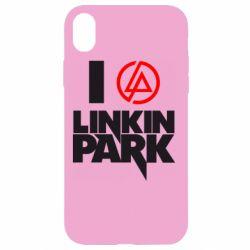 Чехол для iPhone XR I love Linkin Park