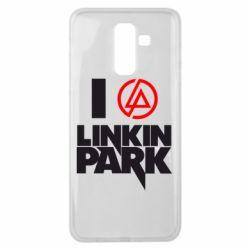 Чехол для Samsung J8 2018 I love Linkin Park