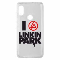 Чехол для Xiaomi Redmi Note 6 Pro I love Linkin Park