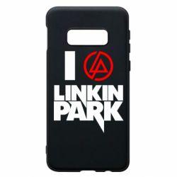 Чехол для Samsung S10e I love Linkin Park