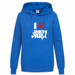 Женская толстовка I love Linkin Park - FatLine