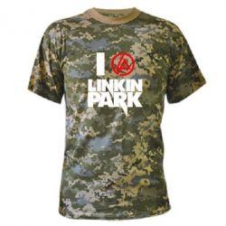 Камуфляжная футболка I love Linkin Park - FatLine