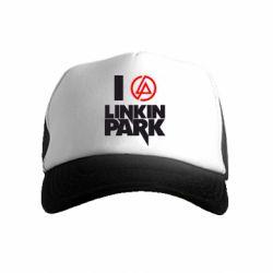 Детская кепка-тракер I love Linkin Park