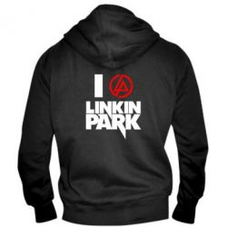 Мужская толстовка на молнии I love Linkin Park - FatLine