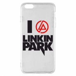 Чехол для iPhone 6 Plus/6S Plus I love Linkin Park