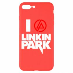 Чехол для iPhone 7 Plus I love Linkin Park