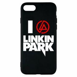 Чехол для iPhone 8 I love Linkin Park