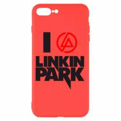 Чехол для iPhone 8 Plus I love Linkin Park