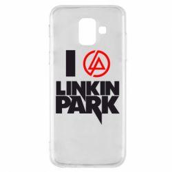 Чехол для Samsung A6 2018 I love Linkin Park