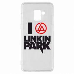 Чехол для Samsung A8+ 2018 I love Linkin Park