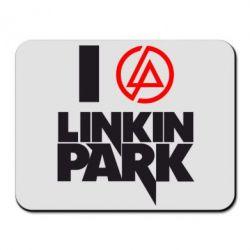Коврик для мыши I love Linkin Park - FatLine