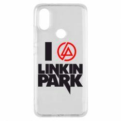 Чехол для Xiaomi Mi A2 I love Linkin Park