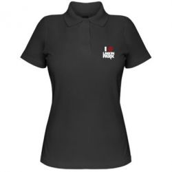 Женская футболка поло I love Linkin Park - FatLine