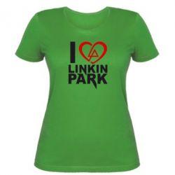Женская футболка I love LP - FatLine