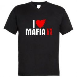 Мужская футболка  с V-образным вырезом I love Mafia 2 - FatLine