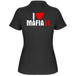 Женская футболка поло I love Mafia 2