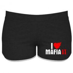 Женские шорты I love Mafia 2 - FatLine