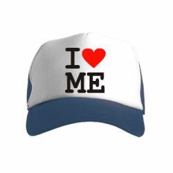 Дитяча кепка-тракер I love ME