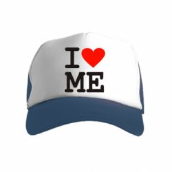 Детская кепка-тракер I love ME