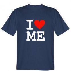 Мужская футболка I love ME - FatLine