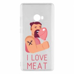 Чехол для Xiaomi Mi Note 2 I Love meat