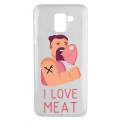 Чехол для Samsung J6 I Love meat