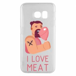 Чехол для Samsung S6 EDGE I Love meat