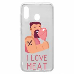 Чехол для Samsung A30 I Love meat