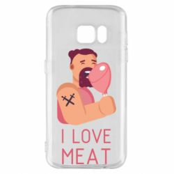 Чехол для Samsung S7 I Love meat