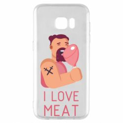 Чехол для Samsung S7 EDGE I Love meat