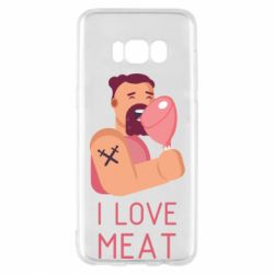 Чехол для Samsung S8 I Love meat