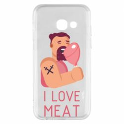 Чехол для Samsung A3 2017 I Love meat