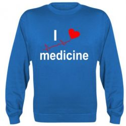 Реглан (свитшот) I love medicine - FatLine