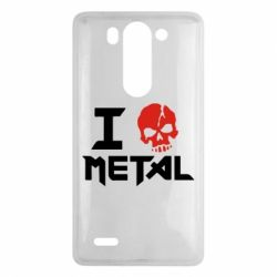 Чехол для LG G3 mini/G3s I love metal - FatLine