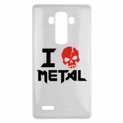 Чехол для LG G4 I love metal - FatLine