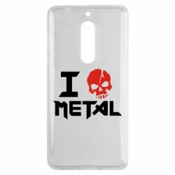 Чехол для Nokia 5 I love metal - FatLine