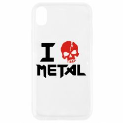 Чехол для iPhone XR I love metal - FatLine