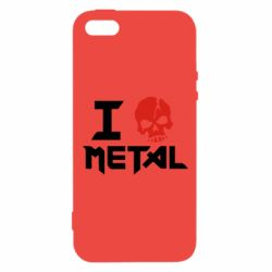 Чехол для iPhone5/5S/SE I love metal - FatLine