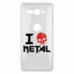 Чехол для Sony Xperia XZ2 Compact I love metal - FatLine