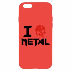 Чехол для iPhone 6/6S I love metal