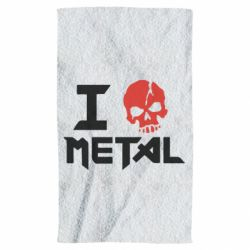 Полотенце I love metal - FatLine