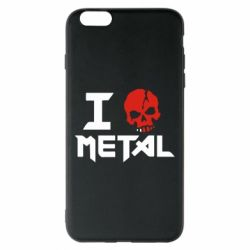 Чехол для iPhone 6 Plus/6S Plus I love metal - FatLine