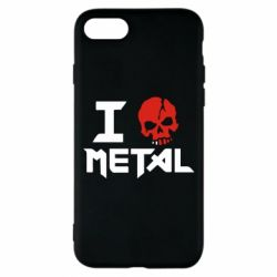 Чехол для iPhone 7 I love metal - FatLine