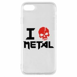 Чехол для iPhone 8 I love metal - FatLine