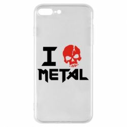 Чехол для iPhone 8 Plus I love metal - FatLine