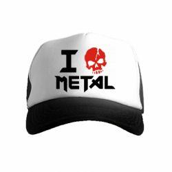 Детская кепка-тракер I love metal
