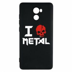 Чехол для Xiaomi Redmi 4 I love metal - FatLine