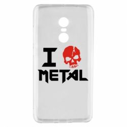 Чехол для Xiaomi Redmi Note 4 I love metal - FatLine