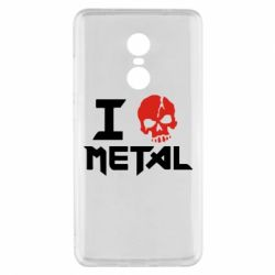 Чехол для Xiaomi Redmi Note 4x I love metal - FatLine